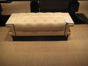Stylish tufted bench- would look great at the end of a bed