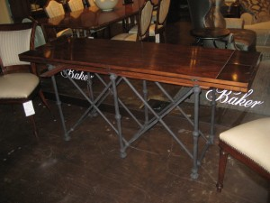 A great console that flips open into a dining table or desk. The perfect piece when trying to maximize space!