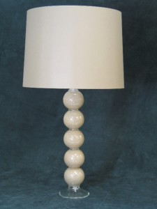 Speckled Taupe Spiral Lamp