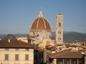 First stop: Florence! This picture of the architectural phenomenon, the Duomo, was taken from our hotel window.