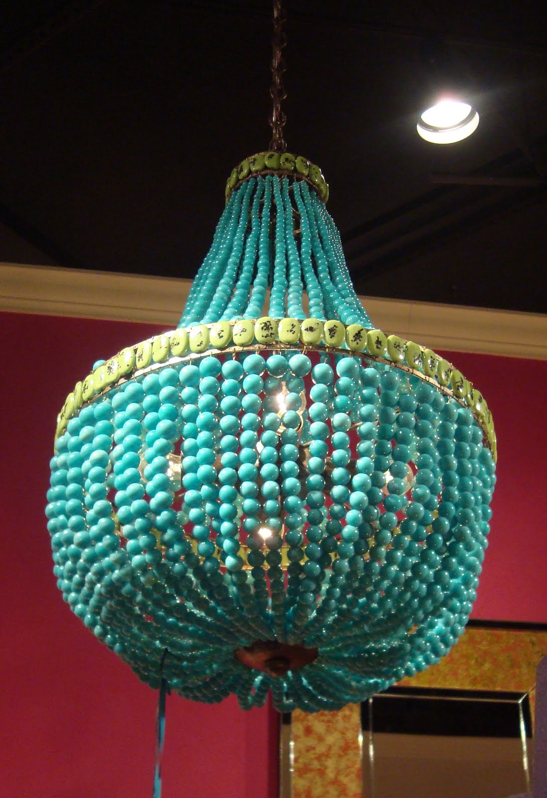 Laura Covington Interior Design » currey & co turquoise chandelier